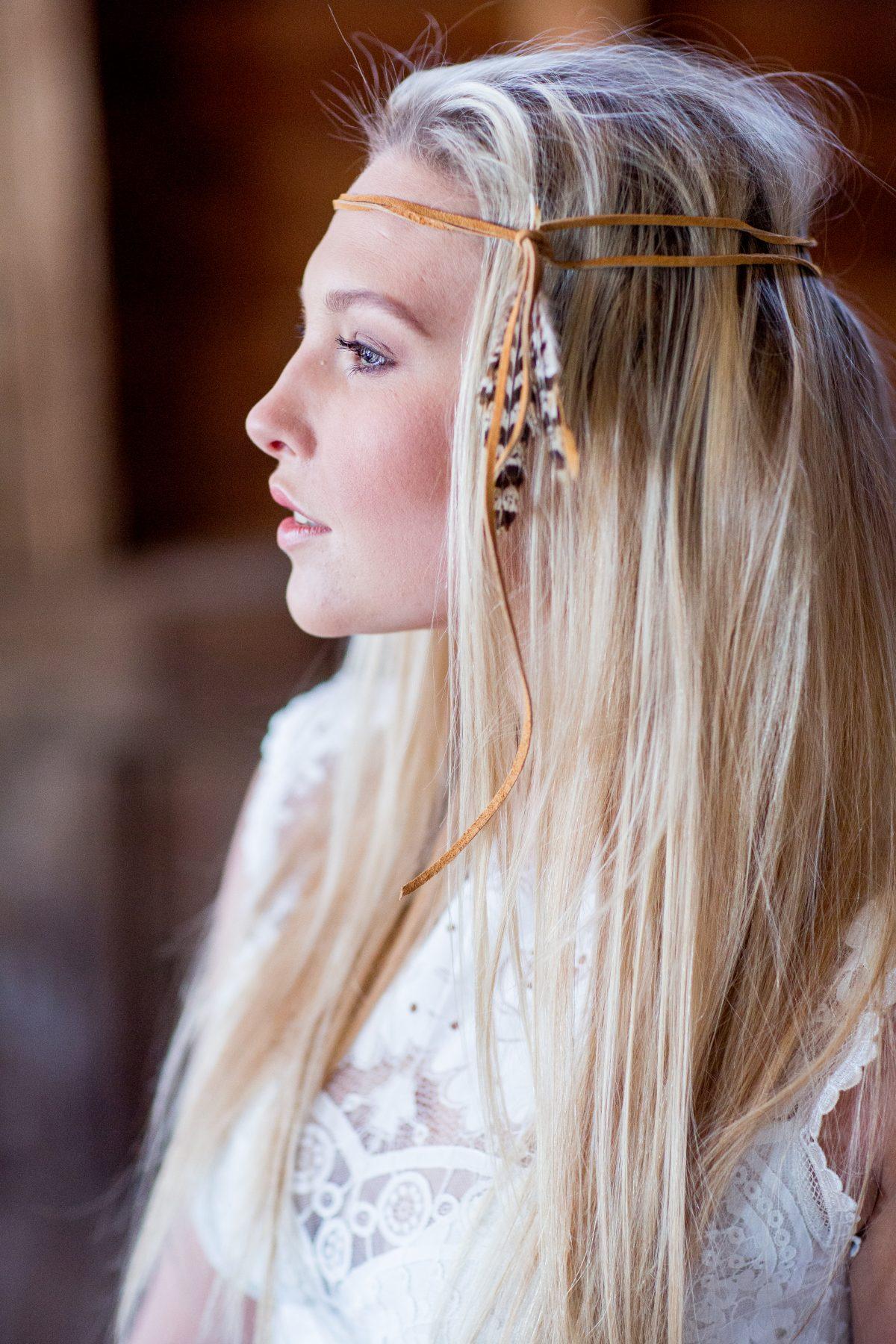 Blonde hair bride